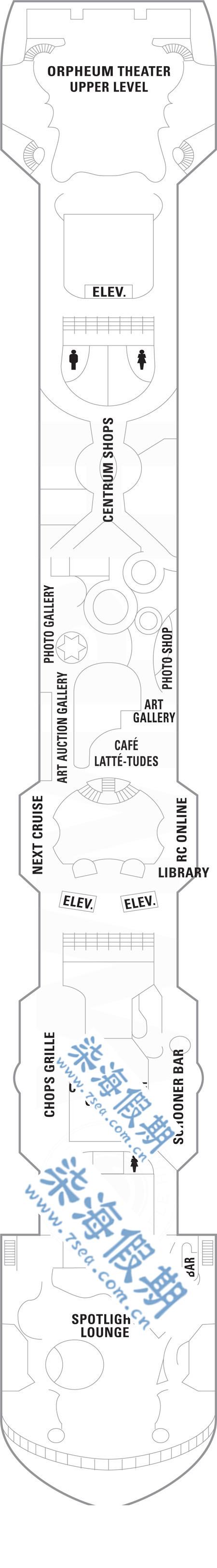 海洋餐厅平面布局图