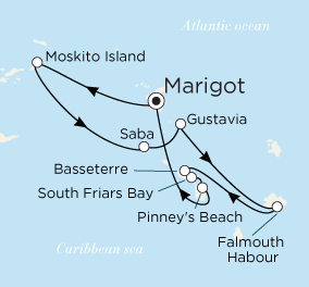 ˮ������ Crystal Cruises Crystal Esprit 7��������أ�Marigot�������������� 2018-01-21������أ�Marigot��, ʥ���Ǵ� ���߱��:2551918012107