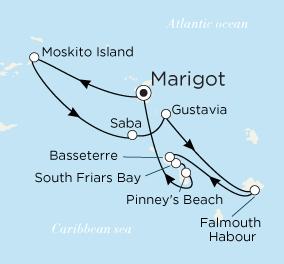 ˮ������ Crystal Cruises Crystal Esprit 7��������أ�Marigot�������������� 2018-02-04������أ�Marigot��, ʥ���Ǵ� ���߱��:2551918020407