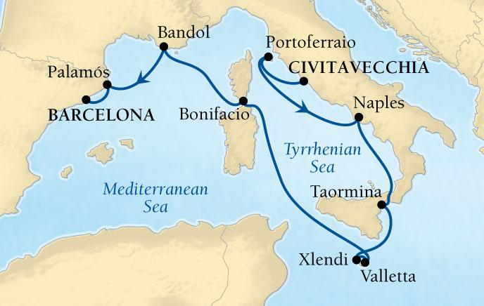�������� Seabourn Cruise Line Encore�� 10����к��������� 2018-06-16��ά��Τ���ǣ�Civitavecchia�� (����Rome��)�Ǵ� ���߱��:7842
