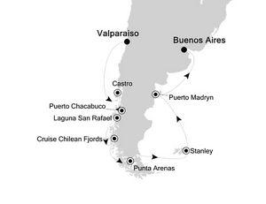 �������� Silversea Cruises Silver Muse 16���������������� 2018-01-21�߶�������(Valparaiso)�Ǵ� ���߱��:68024029