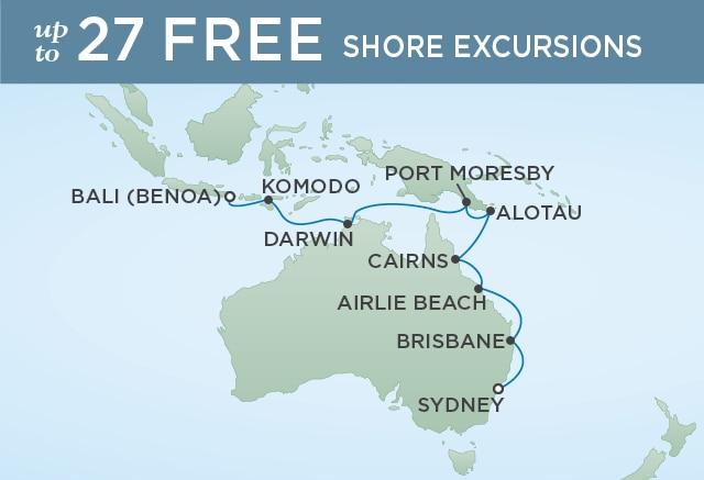 �����ߺ����� Regent Seven Seas Cruises �ߺ�̽���ߺ� Seven Seas Explorer 18��Ĵ����Ǻ��������������� 2021-02-04Ϥ�ᣨSydney���Ǵ� ���߱��:52416210204