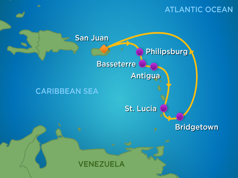 �'Ҽ��ձ����� Royal Caribbean Cruise ����ð���ߺ� Adventure Of The Seas 7���ϼ��ձȺ�����֮�� ʥ��۵Ǵ�